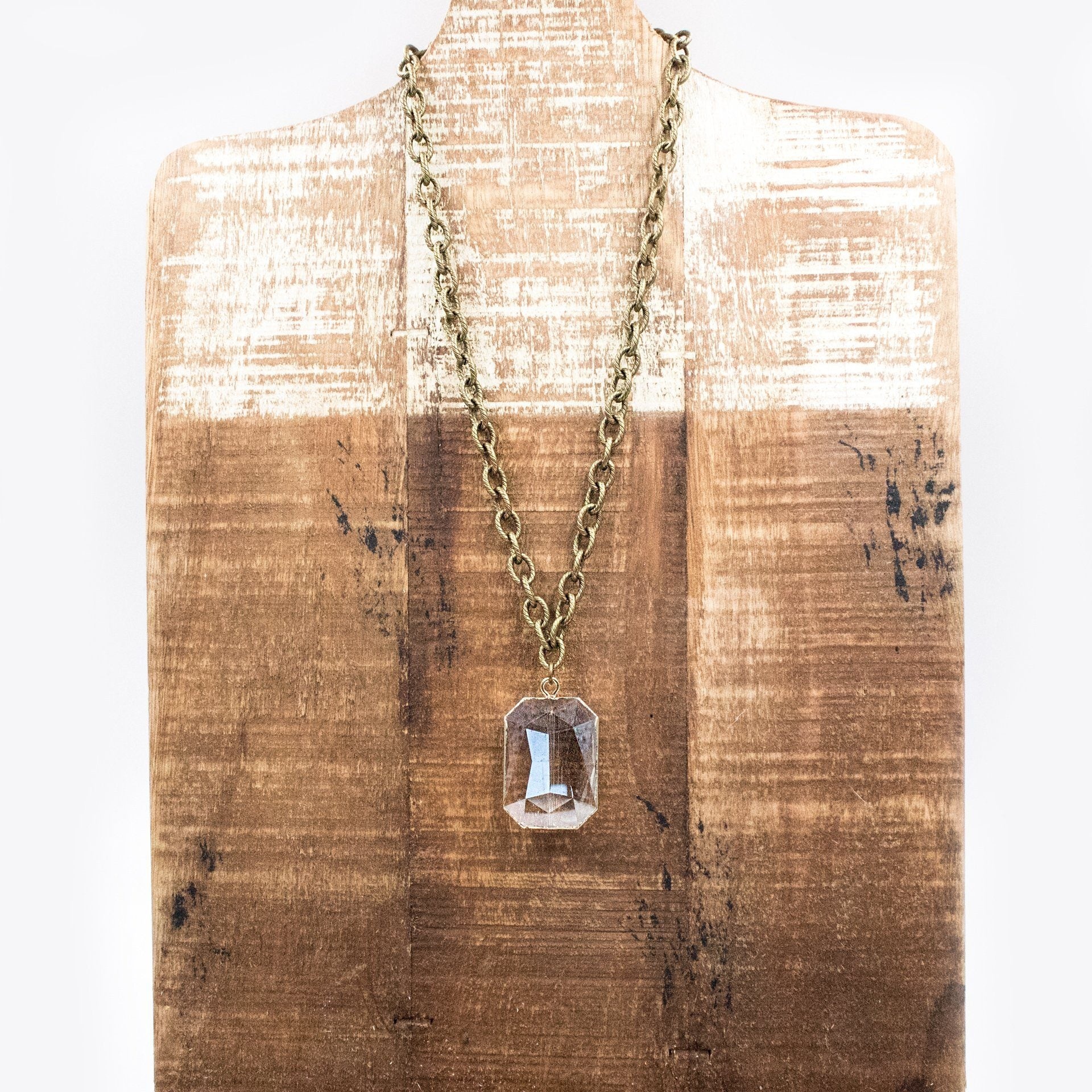 Square Gem Chain Necklace - Arlo and Arrows