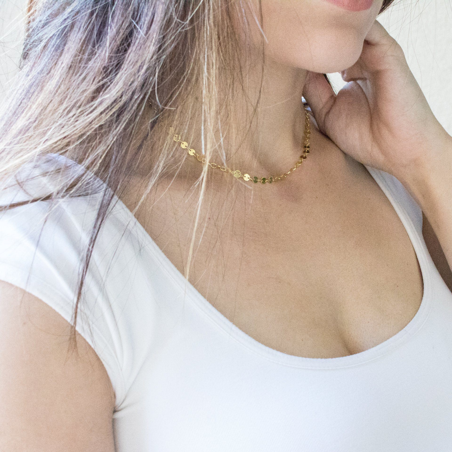 Delicate Coin Choker - Arlo and Arrows