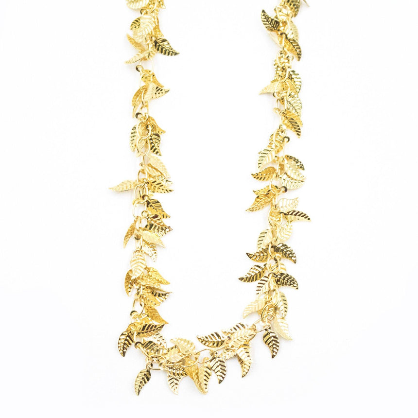 Gold Leaf Collar Necklace - Arlo and Arrows