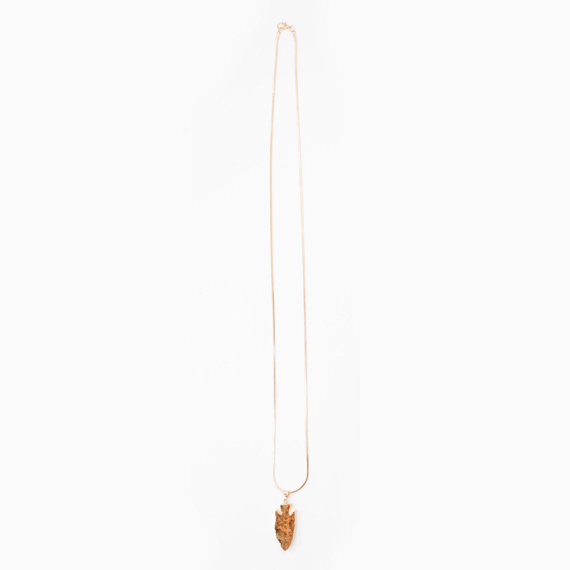 Druzy Arrowhead Pendant Long Necklace - Arlo and Arrows