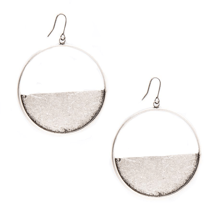 Half Open Metal Hoop Earring