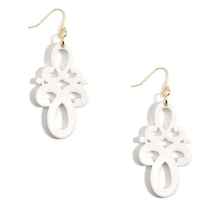 Double Scroll Drop Earring