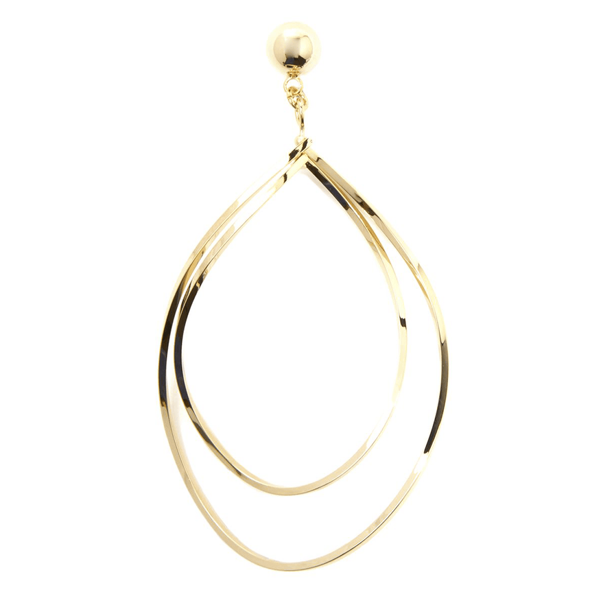 Spiraled Layered Teardrop Hoop Earring