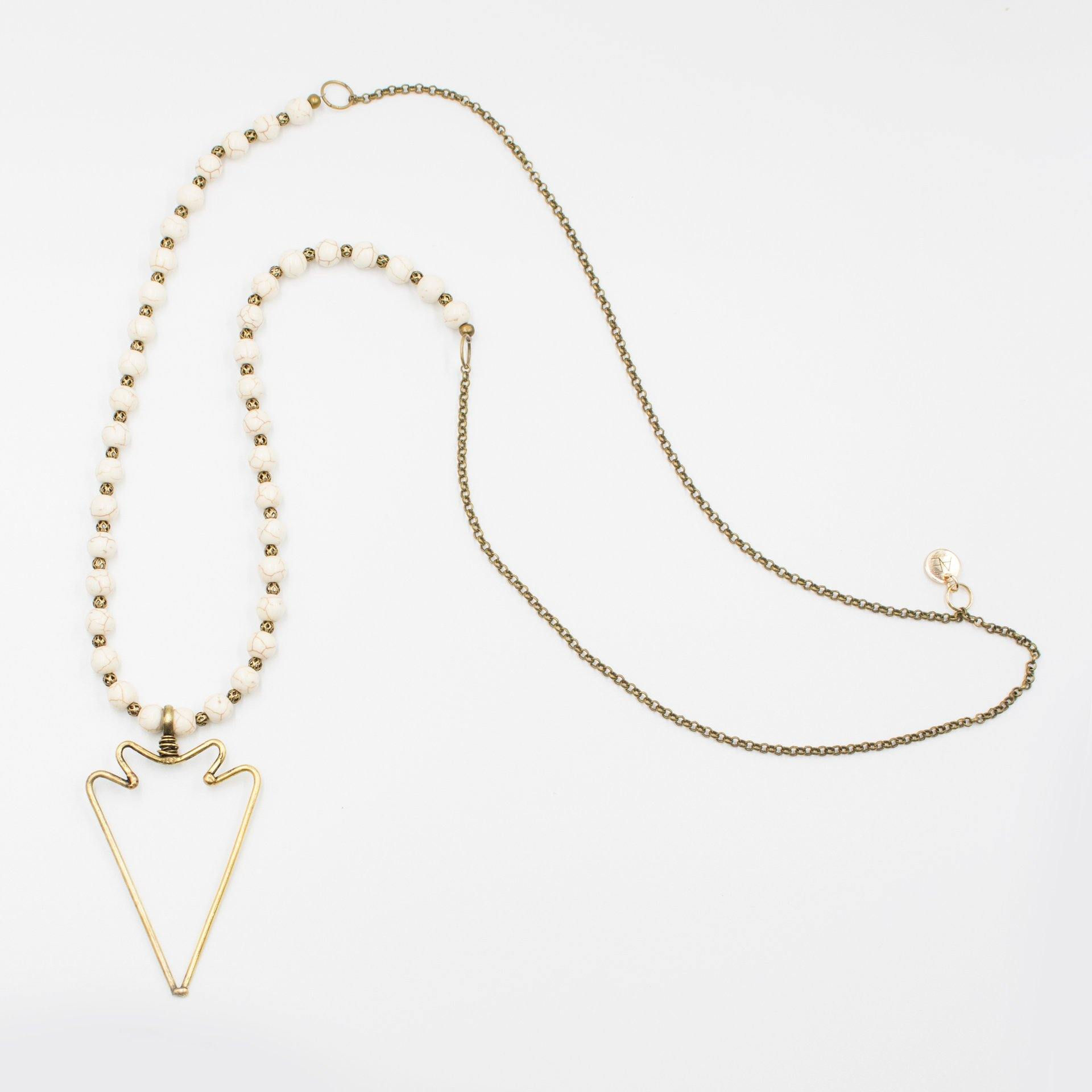 Hollow Arrow Necklace - Arlo and Arrows