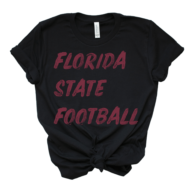 Women's Black Florida State Football T-Shirt S M L XL 2XL 3XL 4XL