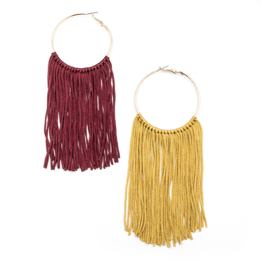 'The Best of Both Worlds' Statement Fringe Earrings - Arlo and Arrows