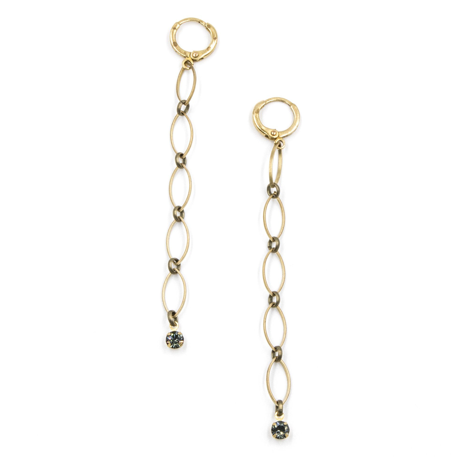 Dainty Drop Earrings with Crystal - Arlo and Arrows