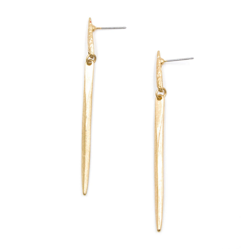 'A Dash of Vice' Gold Drop Earrings - Arlo and Arrows