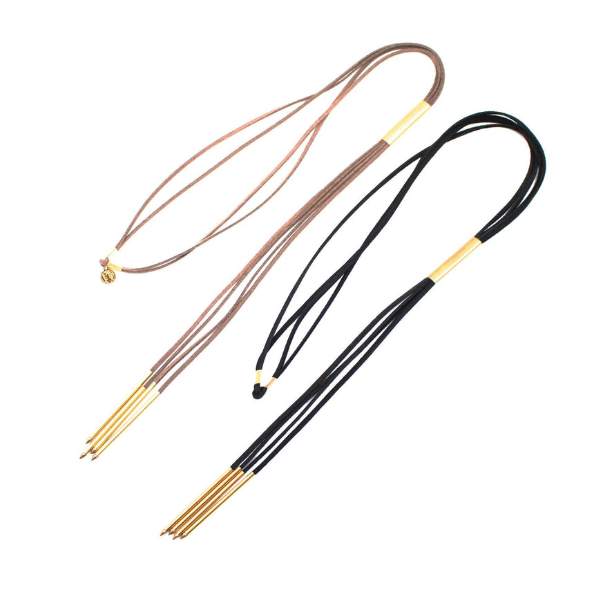 Suede Tassel Necklace (2 Variations) - Arlo and Arrows