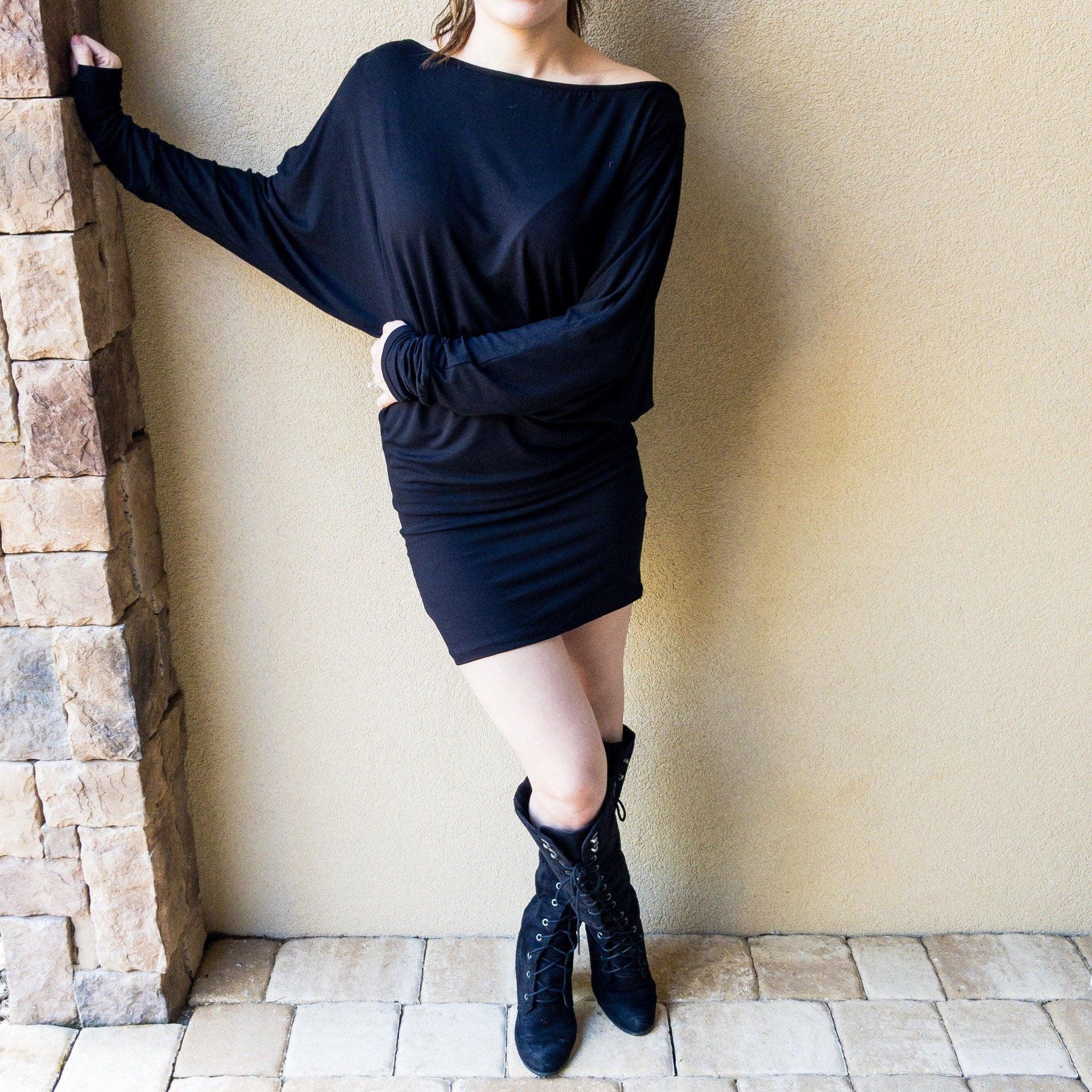 Long Sleeve Black Dress - Arlo and Arrows