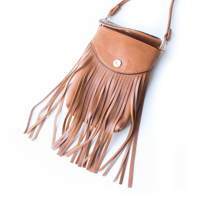 Leather Fringe Crossbody Bag (2 Variations) - Arlo and Arrows
