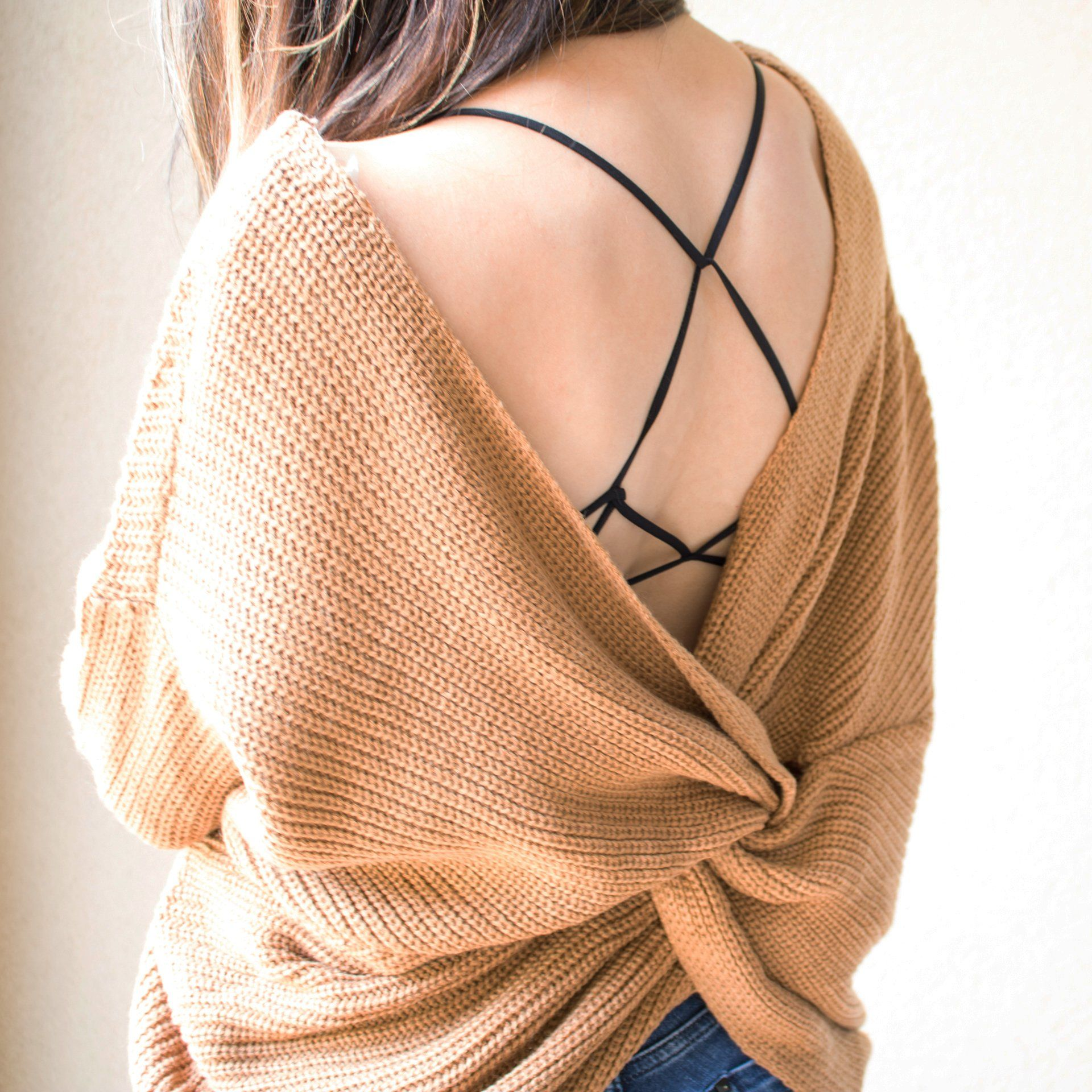 Twisted Back Sweater Top - Arlo and Arrows
