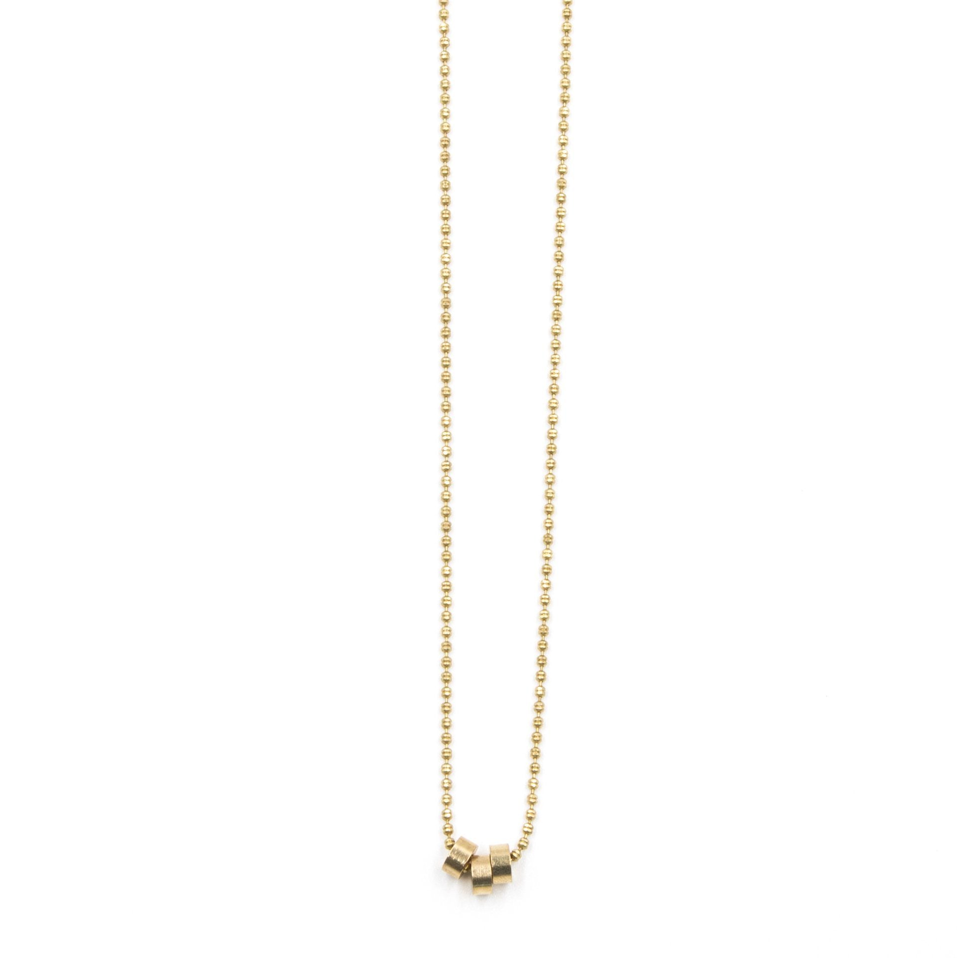 Dainty Triple Disc Necklace - Arlo and Arrows
