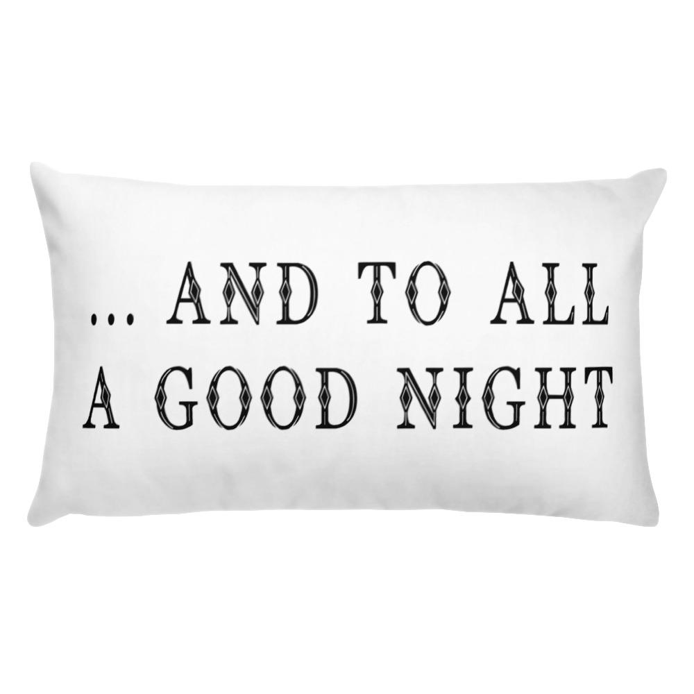 Christmas Throw Pillow - And To All A Good Night