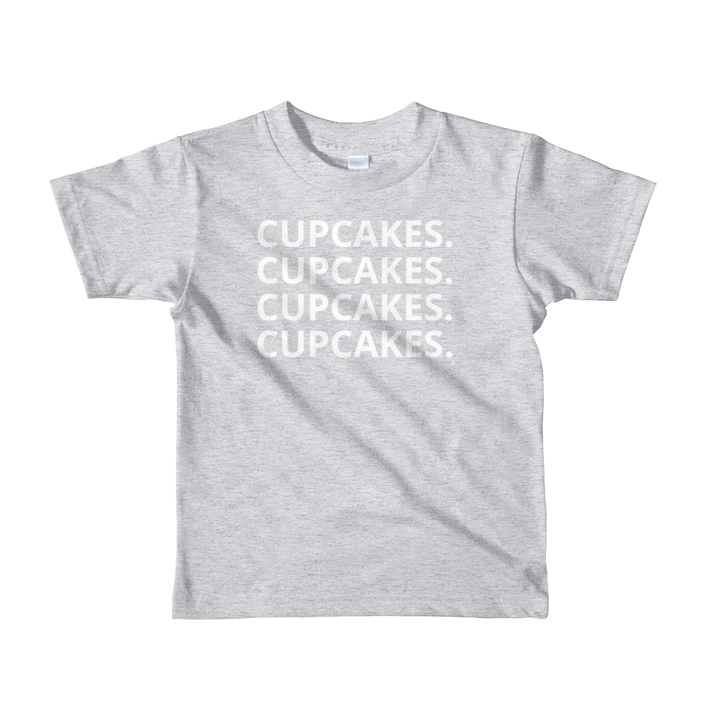 'CUPCAKES' Birthday Tee (Kids Sizes 2-6 Yrs) (9 Colors)