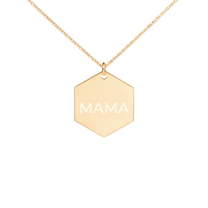 Gold Coated Mama Necklace