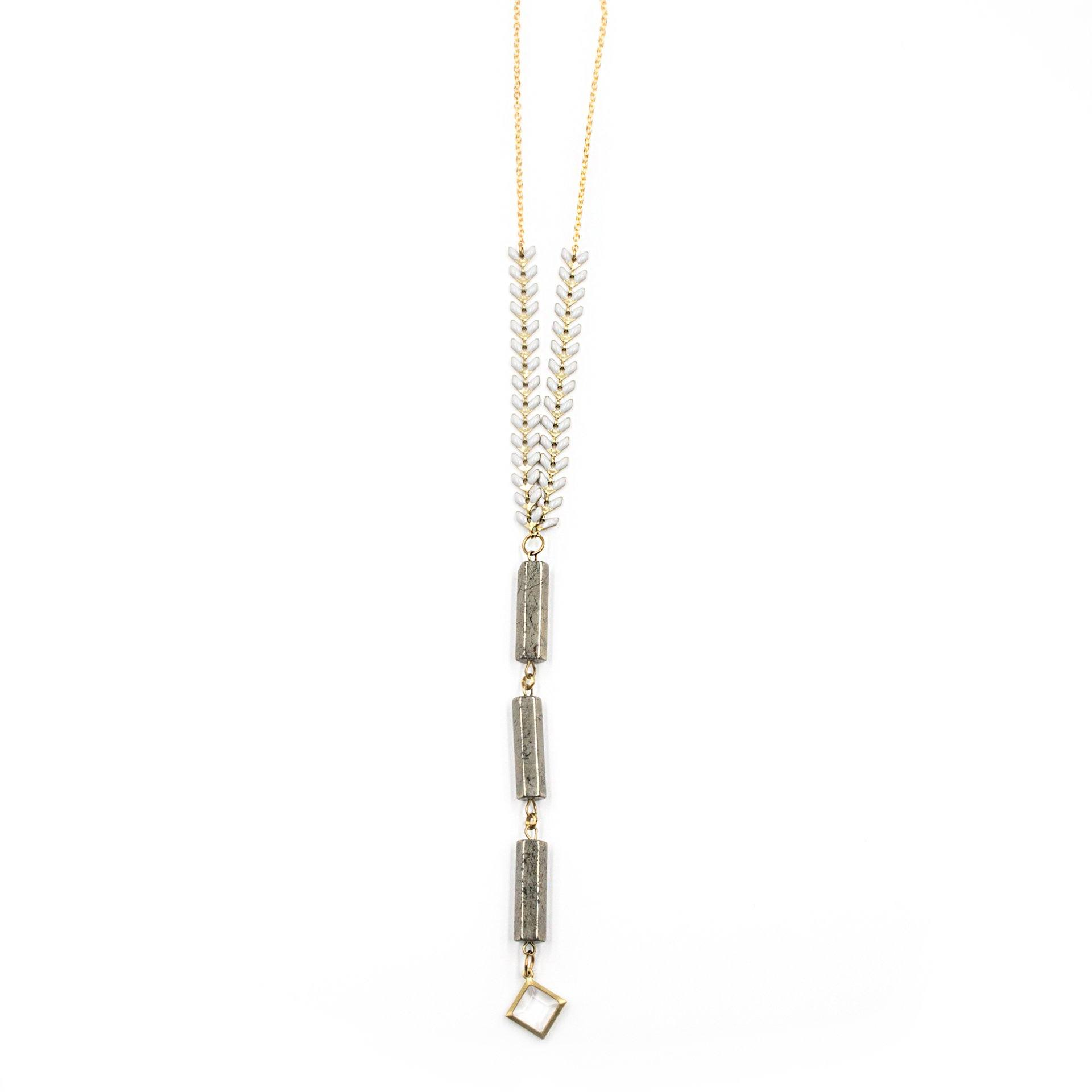 Mixed Metals Long Pendant Necklace - Arlo and Arrows