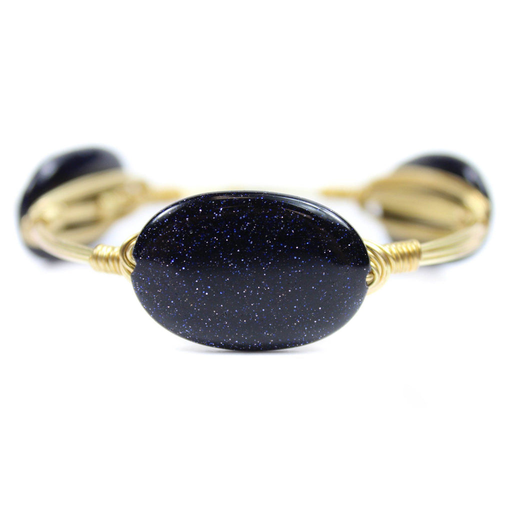Women's bangle bracelet with glitter