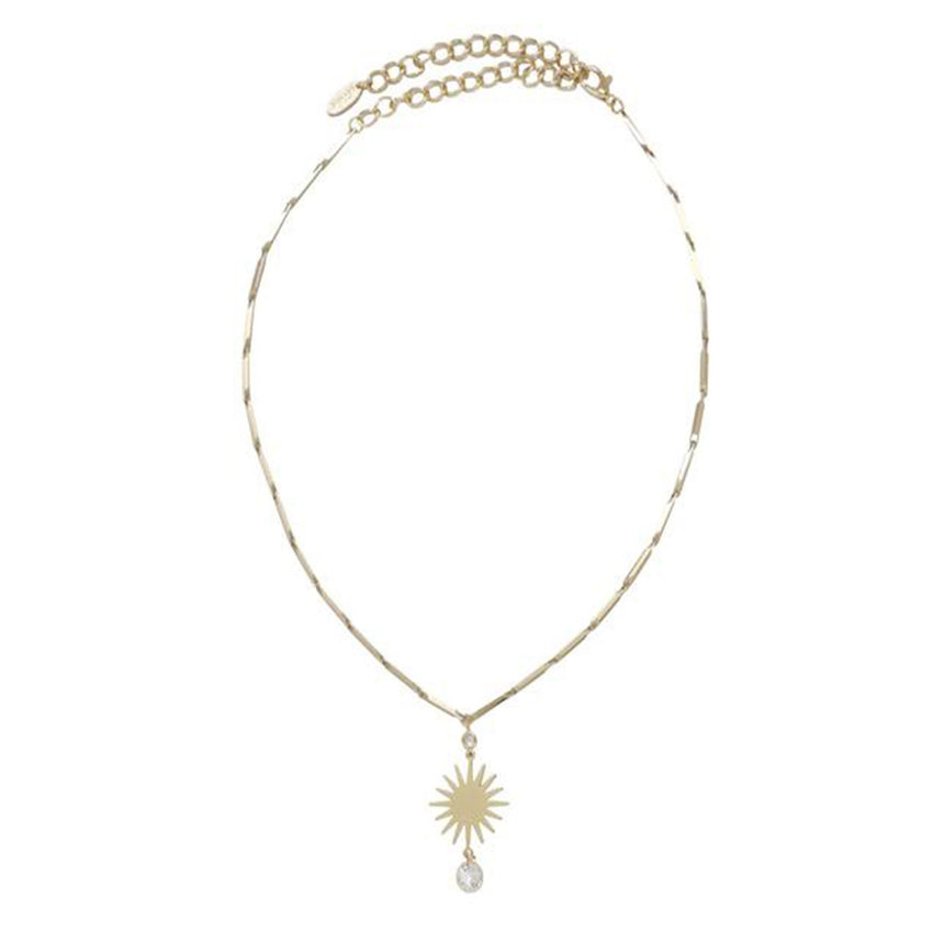 Stargirl Necklace In Gold With Crystal