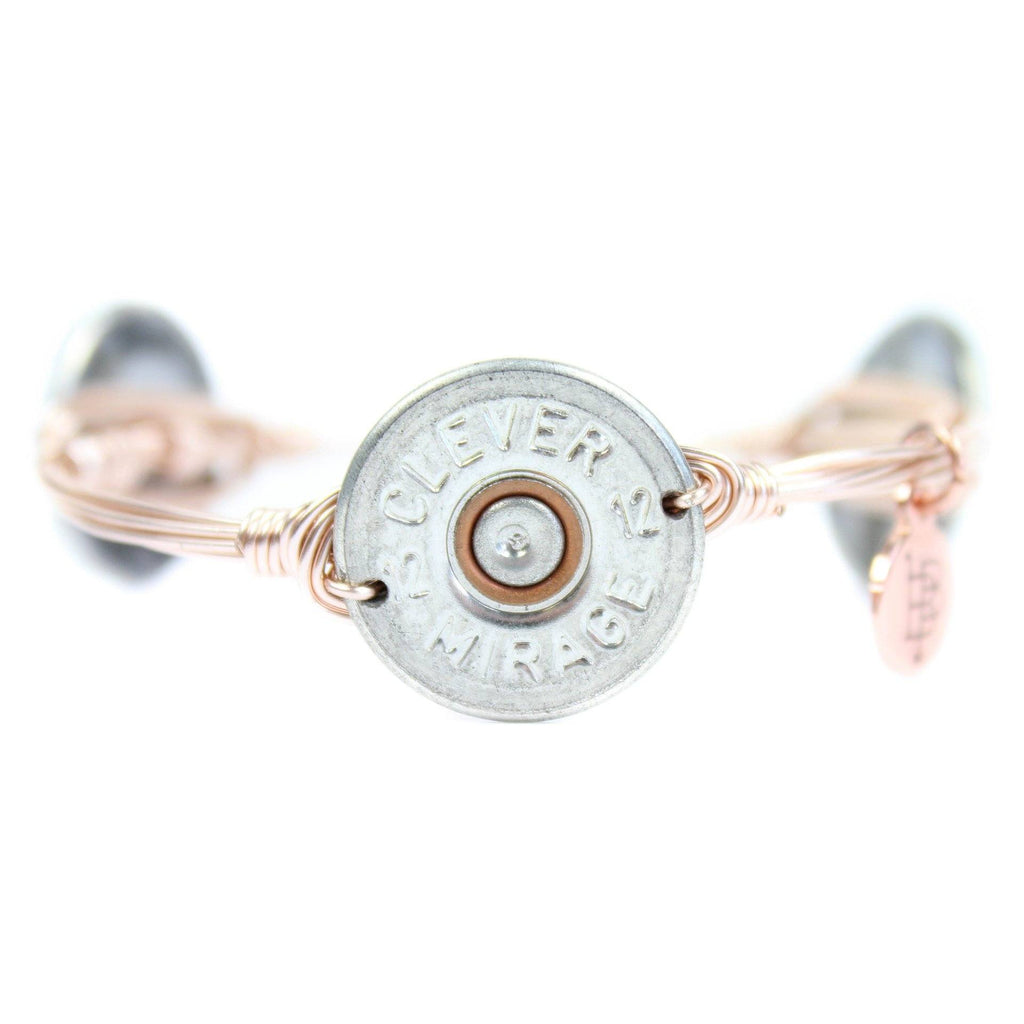 Rose Gold Authentic Shotgun Shell Bangle Bracelet - Arlo and Arrows