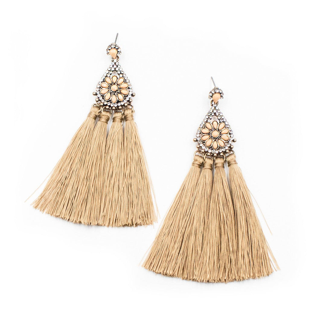 'Miss Doak' Tassel Earrings - Arlo and Arrows