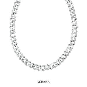 Vobara White Gold Cuban Link