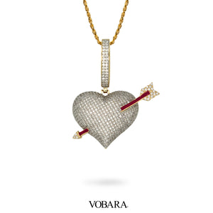 Cupid Arrow Heart Pendant