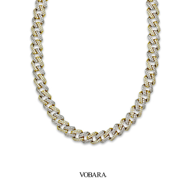 Vobara Two Tone Cuban Link Chain