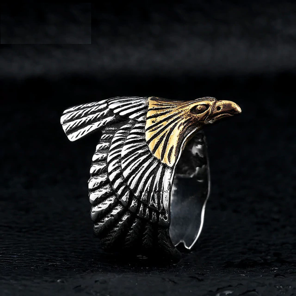 Titanium Eagle Ring