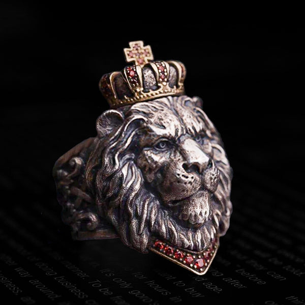 Leo Crown Ring