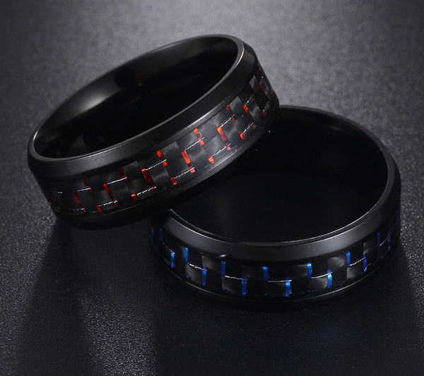 Carbon Fiber Zirconia Ring