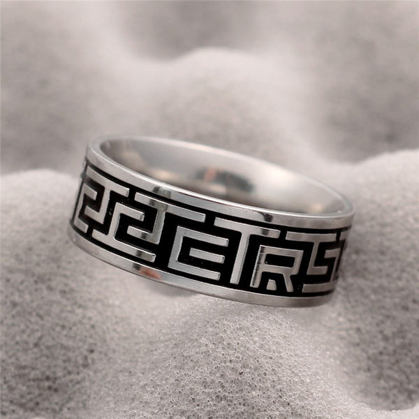 Aztec Stainless Steel Ring