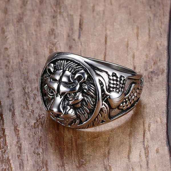 Leo Silver Ring