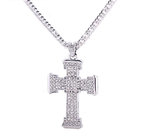 Gem Paved Cross Necklace