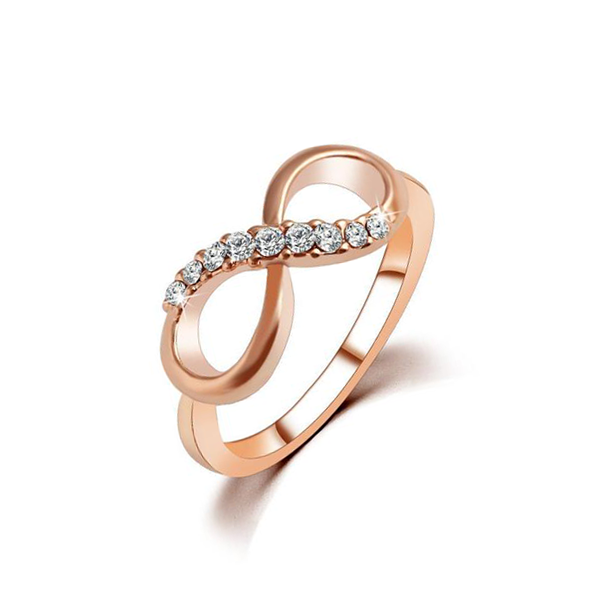 Crystal Infinity Ring Discounted