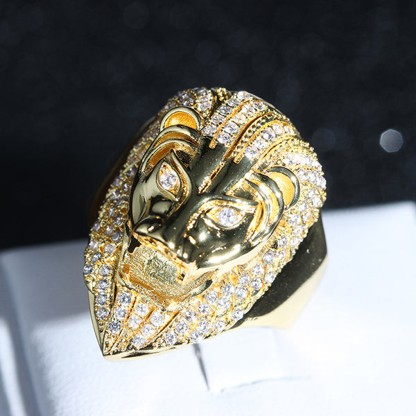 Zirconia Lion Ring