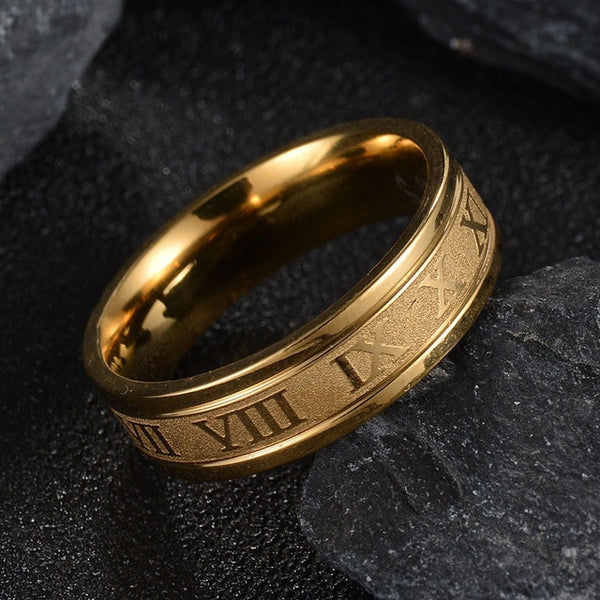 Roman Engraved Ring