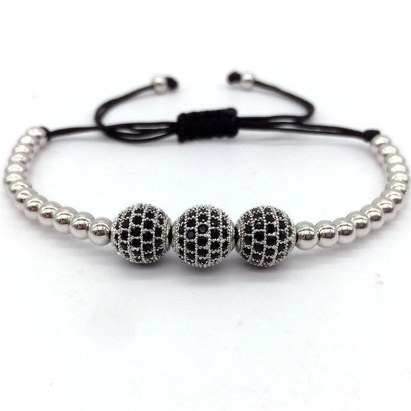 Gem Paved Sphere Bracelet