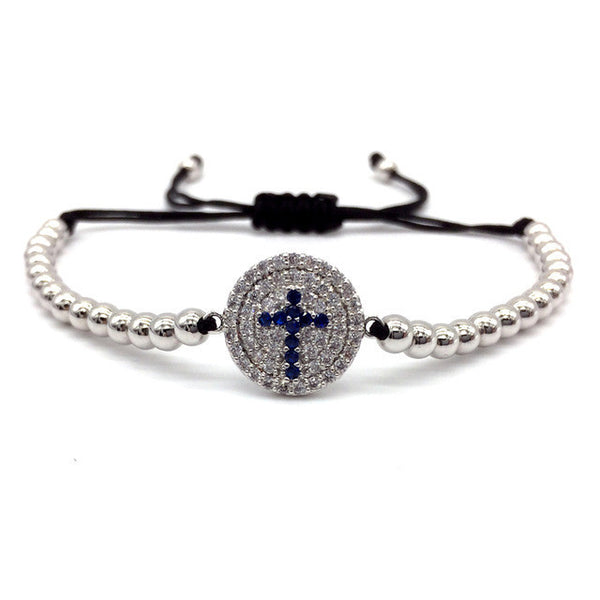Cubic Zirconia Paved Cross Bracelet