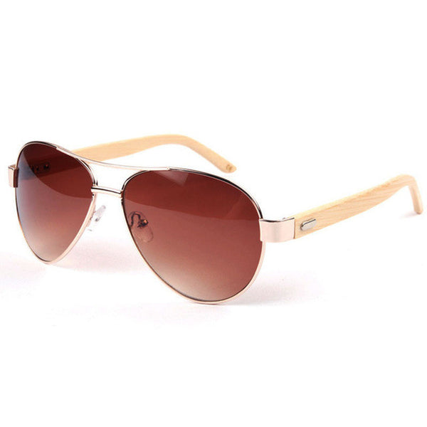 Bamboo Aviator Sunglasses