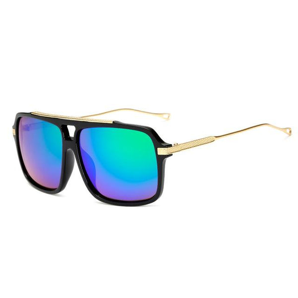 Oversized Gold Arm Sunglasses
