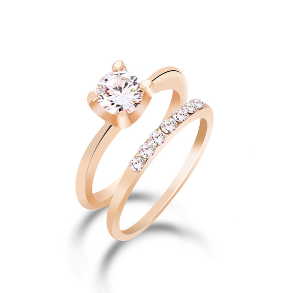 Cubic Zirconia Ring Set Discounted