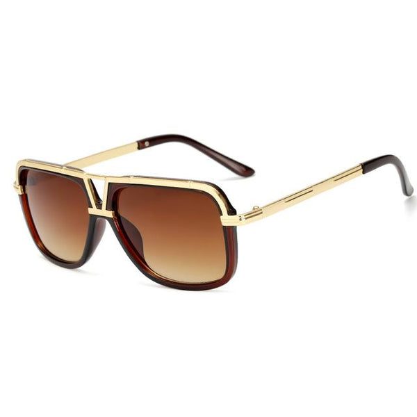 Gold Bridged Sunglasses