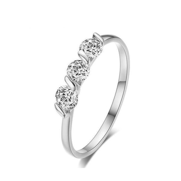 3 Sphere Zirconia Ring