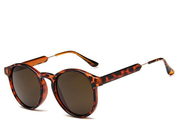 Transparent Frame Retro Sunglasses