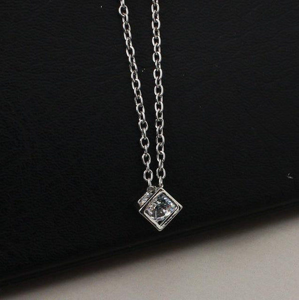 Cube Stone Necklace