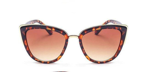 Gold Edged Cat Eye Sunglasses