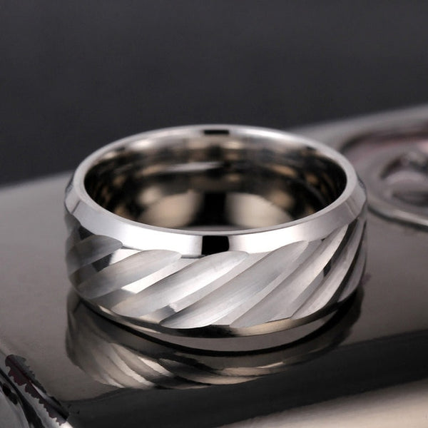 Titanium Stripe Rings