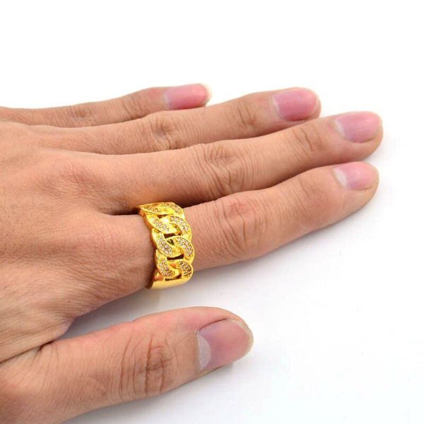 Cuban Link Gold Ring