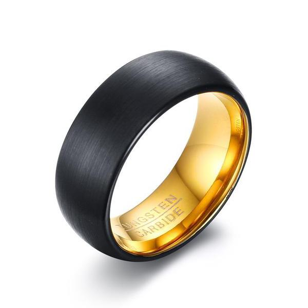 Black Gold Tungsten Ring